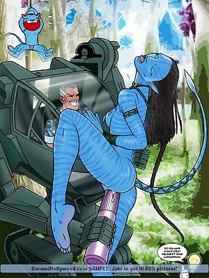 Avatar XXX. Unorthodox BannedHollywood.com Porn Mow Veranda