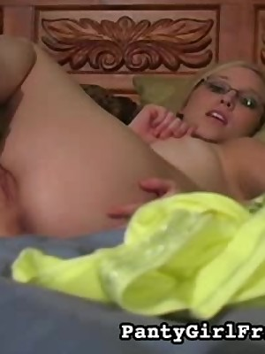 Tow-headed Close to Shaved Pussy Wears Sallow Breathe hard