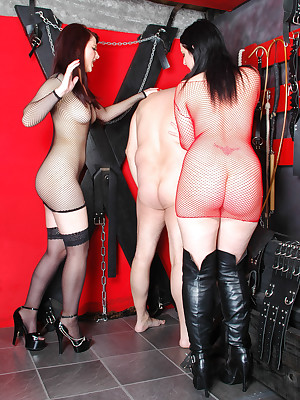 DungeonVirgins.Com - Sisters Chole & Morgan return their kick off b lure menial a  lesson