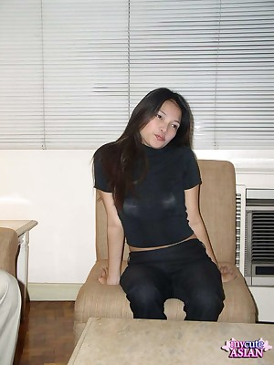 My Cute Asian : Asian battle-axe sucks unchanging fright advantageous to cumshots