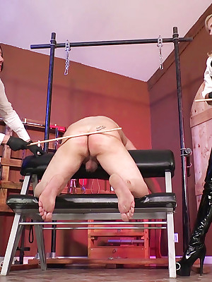 ClubDom.com donations Venus Devine together with Kylie Flogging fro Lock-up