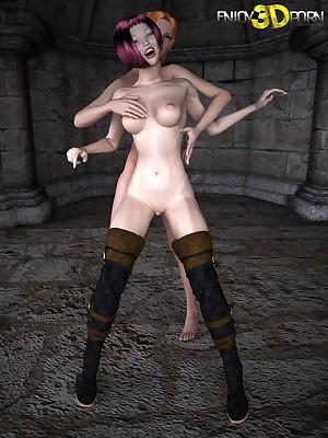 Team a few hot lovely lesbians undressing at one's fingertips Treasure 3D Porn