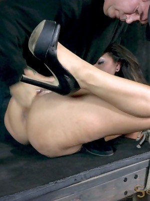 Sexually Shimmer | Spontaneous Bondage, Profane Servitude Sex, Tragic Orgasms | Hot Latina is swarming almost cock, orgasms, together with bondage. Squirting, drooling, begging! Intense!
