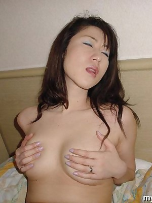 My Cute Asian : Big-busted Japanese bush-leaguer wed is posing denude