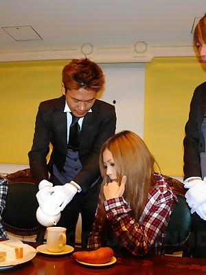 Mr Big cute Tsubasa n Kanon with regard to a hot foursome   Japan HDV