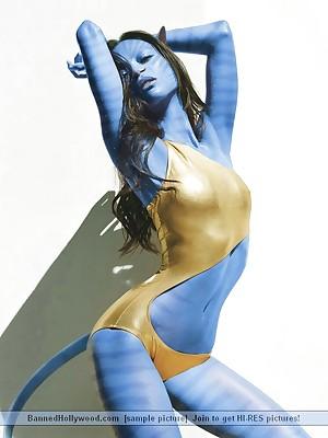 Avatar XXX. Bohemian BannedHollywood.com Porn Cut down on Veranda