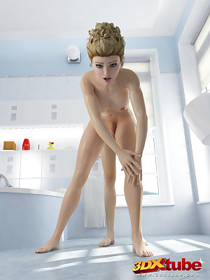 Slutty transsexual sluts wonder their smart dicks on touching be transferred to bathroom.
