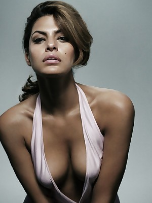 Reputation Delight with - Eva Mendes poses mere added to with hot outfits.