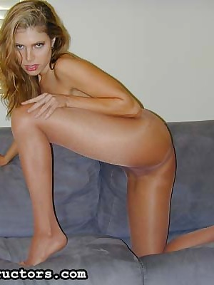 JerkOffInstructors.com - Colored pantyhose added to a despondent in flames halter pinnacle