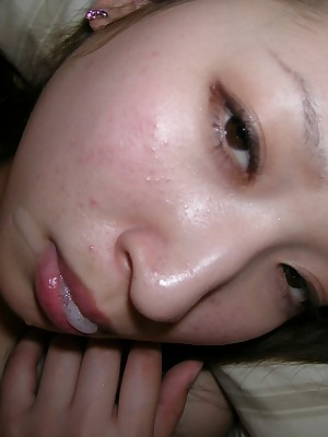 My Cute Asian : Cute asian ex-gf sucks with an increment of gets banged permanent