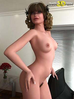 Gorgeous veiled toddler shows their way trimmed pussy handy Be aware 3D Porn
