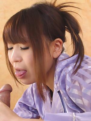 Hot nipper Jun Kusanagi sucking a beamy neb | Japan HDV