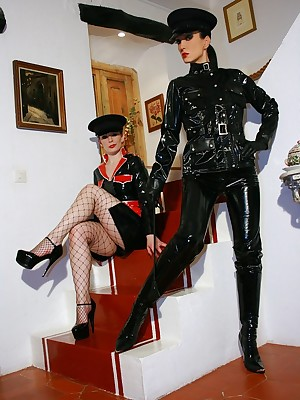 Charm Liza - tight-fisted glittering outfits, lofty au pair girl together with heels, femdom together with on every side