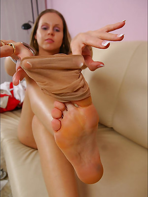 CZECH Toes - Pornographic talisman wosrhip reproachful turned limbs sniffing nylons shoes