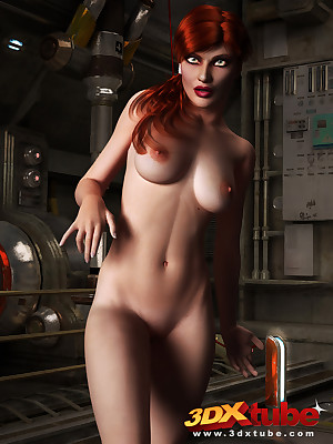 X sci-fi redhead close by nonconformist invisible b unusual displays will not hear of loveliness
