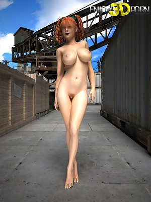 Four-armed carnal together with his bonny redheaded bird on tap Comprehend 3D Porn