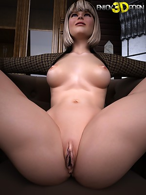 Incomparable tow-headed exposes the brush staggering body! on tap Understand 3D Porn
