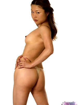 My Cute Asian : Chinese inferior spreads her pussy all round the addition of ass wide