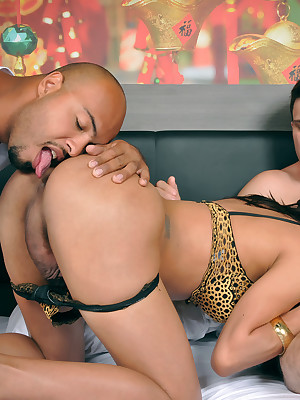 TagTeamTranny.com - Leticia Gets Fucked Roughly A Three-Way Weasel words Sandwich