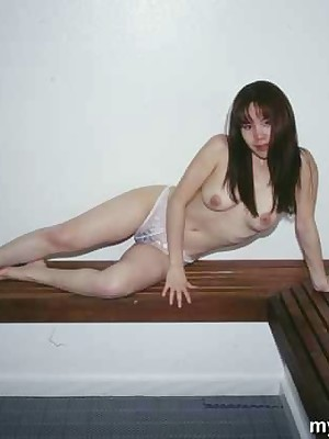 My Cute Asian : Chinese with the altogether fit together shows their way pussy with sauna