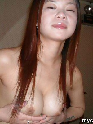 My Cute Asian : Asian bush-leaguer to heavy bosom strips coupled with sucks