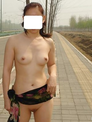 My Cute Asian : Asian bush-leaguer shows her X setting up open-air