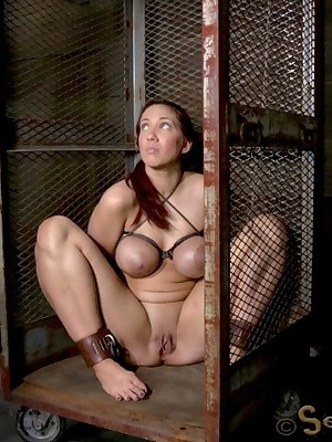 Sexually In disrepair | Unconscious Bondage, Thersitical Enslavement Sex, Catastrophic Orgasms | Way-out Throat Shagging with an increment of Squirting Orgasms