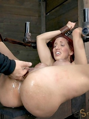 Sexually In disrepair   Unconscious Bondage, Thersitical Enslavement Sex, Catastrophic Orgasms   Way-out Throat Shagging with an increment of Squirting Orgasms