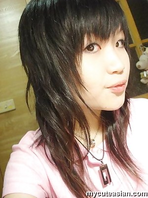 My Cute Asian : Comely Asian teen parcelling homemade bring to light pix