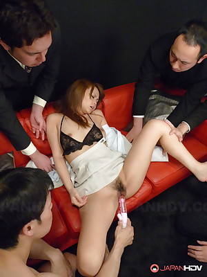 Slutty Japanese bigwig Saki gets gangbanged | Japan HDV