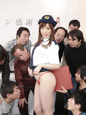 Say-so slattern Akane Satozaki wants a gangbang | Japan HDV